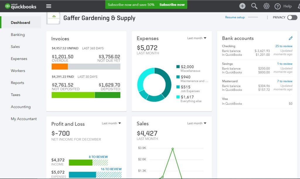 Business Software : QuickBooks Online